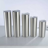 304 Stainless Other Drinkware Steel Cup With Lid Straw Skinny Tumbler Reusable Travel In The Car Water Mug Straight 15oz