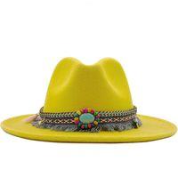 Простые мужчины женщины широкие красновые шерстяные войлоки Федора Панама шляпа с поясной пряжкой джаз трилби партия формальная большая шляпа в розовом червении X XL