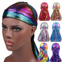 Лазерная шелка дышащая Bandana Hat Turban Cap Doo Durag Headwear WLL650