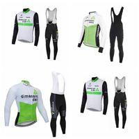 Professionelle MTB Langarm Outdoor Sport Jersey Sets Heißer Verkauf Dimension Data Team Radfahren Langarm Jersey BIB Pants Sets 10B2811