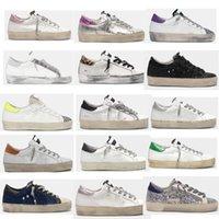 Oi estrela sneakers designer estrela sapatos casuais clássico do-velho sapato sujo ganso duplo treinadores de fundo dourados mulheres homem melhor qualidade