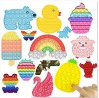 DHL Free Rainbow Engraçado It Fidget Brinquedo Antistress Brinquedos para Crianças Adult Push Bubble Fidget Sensory Autismo Especial Necessidades Especiais Ansiedade Stress HJ08
