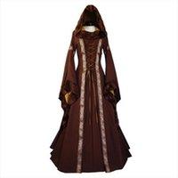 19 세기 유럽 의상 여자 드레스 중세 르네상스 후드 vestido 빈티지 빅토리아 고딕 공주