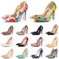 Neue red bottoms high heels Modedesigner für Frauen Party Hochzeit Triple Black Nude Spikes Pointed Toes Pumps Luxus Kleid Schuhe