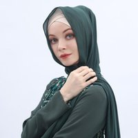 Ethnic Clothing Scarves Muslim Women Hijab Chiffon Solid Elegant Fashion Veil Head Scarf Turbans Women's Hijabs Long Caps Hat Islamic