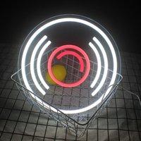 Other Lighting Bulbs & Tubes Wanxing LED Neon Signs CD Record Wall Hanging Art USB Powered Night Lamps Custom Shop Music Bar Room Decor