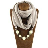Yutong Mode Designer Foulard Ethnique Collier Solide Collier Solide Gorgeous Pendentifs perlés Bijoux Collier Écharpe Foulards Châle Écharpes