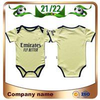 21/22 Gunners Away Bebê Futebol Jerseys 2021 Arsen Pepe Nicolas CeBallos Henry Guendouzi Sokratis Tierney 9-18 Meses Camisa de Futebol Criança