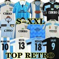 Lazio Retro 1989 1990 Simeone Futbol Formaları Vintage 91 92 99 00 01 14 Nedved Salas Gascoigne Nesta Klasik Ev Uzaktan Futbol Gömlek Veron Crespo Mihajlovic Simeone