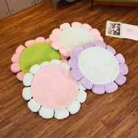 Cushion Decorative Pillow Faux Fur Seat Cushion Artificial Hair Kids Room Decor Creeping Mat Flower Shape Cushions Two-faced Floor