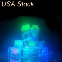 Dauerhafter und vielseitiger Eis Licht Eimer LED Cubes glühende Party Ball Flash Lights Leuchtendes Neon W Festival Weihnachtsbarweinglasdekoration liefert usalight