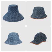 Denim Kova Şapkalar Erkek Kapaklar Şapka Bayan Geniş Brim Şapka Moda Rahat Kap Gorro Sokak Stilleri Casquette