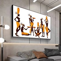 Abstract African Woman Canvas Painting Modern Wall Art Posters and Prints Simplicity Decoration Pictures for Living Room Mural