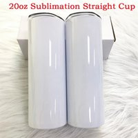 DHL быстрая доставка 20 унций прямые тощие пустые пустые тумблеры сумблимации с крышкой соломинки для самых популярных чашек