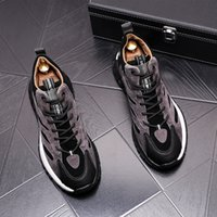 Spring Autumn Men Casual Breathable Shoes Luxury Design Party Wedding Male Flats Sneaker Fashion Low-cut Lace-Up Business loafers B188