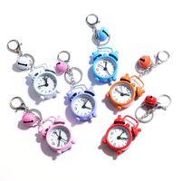 Söt mini väckarklocka Nyckelringar Kreativa parti Gåvor Small Bell Metal Key Ring Fashion Clocks