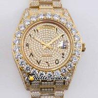 TWF 43mm Jour Date 228396 Asiatique 2813 Automatique Homme Montre 228398 Gypsophila Arabe Markers 18K Gold Beaux Diamond Bezel Bracelet Designer Bling Bling Wathces Hello_Watch