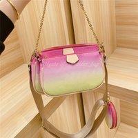 2021 известных роскошных дизайнеров мульти Pochette аксессуары для наплечных сумки женские сумки Crossbody Mahjong Tote сумки мода сумка кошельки кошелька M57634 рюкзак