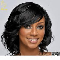 Best Glueless Full Lace Wigs With Bangs 100% Brazilian Lace Front Human Hair Wigs For Black Women Short Bob Wig with Side Bangs