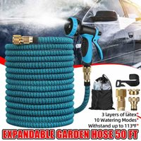 Large Expandable Garden Hose Pipe Flexible Used For High-Pressure Car Wash Magic Hose, Metal Spray Gun, Outdoor Watering Equipments