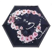 傘製品5つの折りたたみ雨傘ガールギフト携帯用夏の愛ハート形サンパラソルアンチ紫外線サンシェード