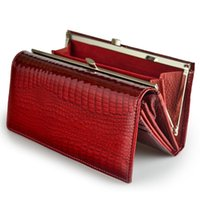 Wallets Design Genuine Leather Women's Long Ladies Wallet Clutch Bag High Quality Red Coin Card Holder Purse Crocodile Purses