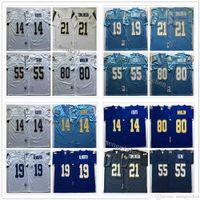 NCAA Men Football 14 Dan Fouts 19 Lance Alworth 21 Lancainian Tomlinson 55 младший SAUU 80 Kellen Winslow майки винтаж синий белый