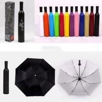 Folding Beer Bottle Umbrella Creative Sun Umbrellas Uv protection Umbrella Fashion Portable Umbrella Creative Kids Gift Customized dff2016