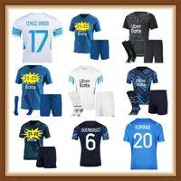 Marseille Fussball Jersey Sanson 21 22 OM 2021 2022 MAILLOT FUCE CUMENSION THAUVIN BENEDETTO KAMARA PAYET MEN + KIDS KIT FUSSBALL HEMDEN