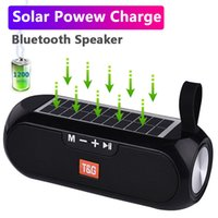 TG182 Solar Carregamento Bluetooth Speaker Portable Coluna Sem Fio Estéreo Música Caixa de Música Alto-falante Esporte Ao Ar Livre Supervisório Supervisório Soundbox Bass