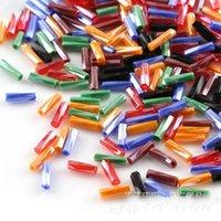 Beads espaçador solto Tubo de cristal contas de vidro colorido grânulos para colar de pulseira fazendo achados de jóias 15 cores chapeadas 170 W2