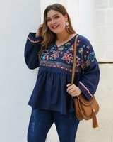 Winter tops cotton embroidery big yards T-shirt coat wholesale