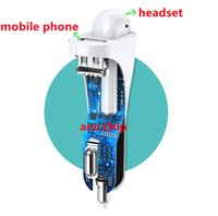 Anc Single Single Ear 5.0 Wireless Bluetooth casque d'achat Lien Chargeur Téléphone mobile UBS Dual Port 2 en 1 Sortie TWS 2e générations 3ème génération pour IP11 12 AP2 AP3