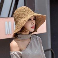 Wide Brim Hats Fashion Lady Straw Hat Women Summer Sun Visor Sunhat Panama Boater Floppy Bucket Cap Female Woman Beach