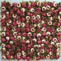 Top Qualité Luxe 1.2m x Fleur Toile de toile de fleur artificielle de la soie de soie de soie de soie arches de la décoration de fête de mariage décoration Couronnes décoratives