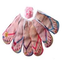 Chaussettes Hosiery Fashion Toile Chaussures Cotton 3D Squelette imprimé Été drôle Kawaii Skull Foot Pied Low Cut Chevle pour femme 2021
