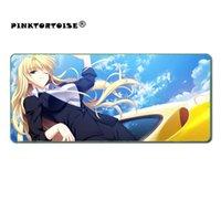 Fare Pedleri Bilek Dinlenmek Pinktortoise Anime Mousepad Büyük Kilitleme Kenar Hız Oyunu Gamer Oyun Pad Yumuşak CSGO DOTA 2 Laptop Dizüstü Mat