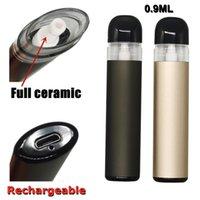 Disposable Vape Pen E-cigarette Kit Starter Kits Lead Free Rechargable 280mah Battery 0.9ml Pod Full Ceramic Coil Empty Thick Oil Vaporizer Custom Logo Intake 4 * 1.8mm