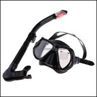 Diving Sports nautiques Sports à l'extérieur Sans masque Divers Masque et Snorkel Goggles Ensemble Dive Snorkeling Scuba Diving1 Drop Livraison 2021 NTJRI