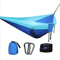 Portaledges Personalizado Duplo Esportes Acampamento Ao Ar Livre Caminhada Cor Combinando Hammock, Super Light Lighting Nylon Parachute Pano
