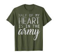 Девушка рубашки жены армии, половина моего сердца в армии