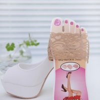 Conception en dentelle antidérapante Haut High Heels Cushion Protector Pieds Soins Oneefoot Pad Semelles Invisibles Demi-Yard Pad 6 paires3101