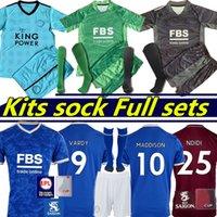 21/22 Leicester City Vardy Soccer Jersey 2021 2022 قميص MAGUIRE كرة القدم Maddison Tielemans Barnes Ndidi Camiseta De Futbol Men + Kids Kit Cheics