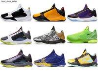 2021 Otantik ZK5 KB5 5 S Bruce Lee Protro Açık Ayakkabı 5x Champ Lakers Mor Altın 2 K20 Chaos Mamba Zoom ZK 5 V Erkek Sneakers KB6 Eğitmenler