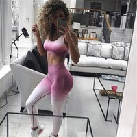 Yoga Outfits Pants Women Bra Sport Leggings For Gym Tights Running Jogging Female Stretch