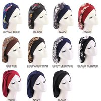 Satin Silk Bonnet Sleep Cap Extra Large Jumbo Day and Night alon Head Hair Covers Chemo hats with Elastic Wide Band
