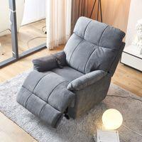 أثاث غرف نوم كبير رفع الطاقة كرسي كرسي للمسنين 8 نقاط التدليك والحرارة، التحكم عن بعد. الثقيلة، النسيج الناعم مبالغ