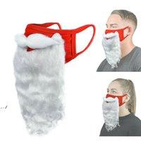 Santa Claus Divertente Beard Maschera Christma Decorations Party Dress Up Bianco Maschera antipolvere Maschere in cotone antipolvere DWB11143