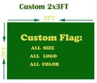 2x3 ft Benutzerdefinierte Flagge Fußballmannschaft / Club Flag Design Digitaldruck Alle Stile Alle Logos Polyester Banner