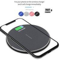 Almofada de carregamento rápido do carregador sem fio de 10w Qi para o telefone celular iphone 12 11 Pro Xs Max X XR